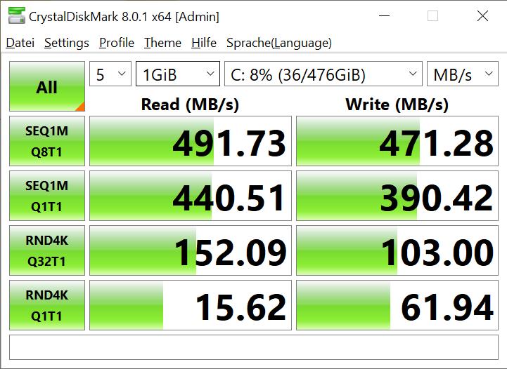 CHUWI GemiBook Pro Notebook CrystalDiskMark