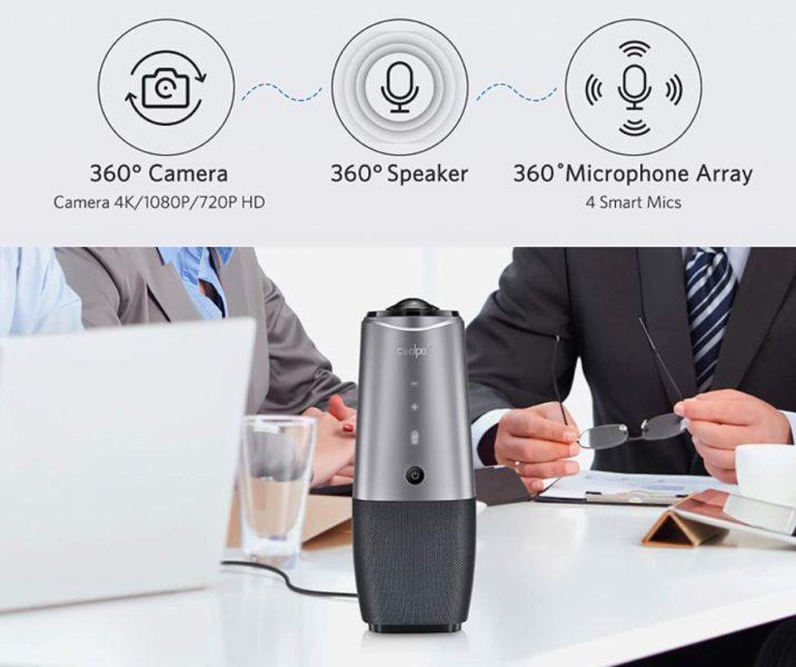 COOLPO 360 Videokonferenzkamera auf Tisch