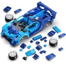 CaDA Mini-Sportwagen ferngesteuert blau