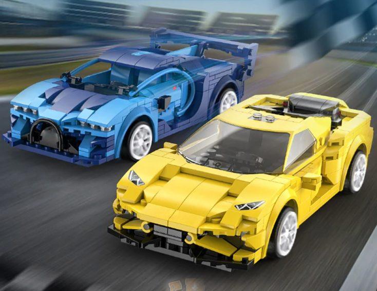 CaDA Mini Sportwagen ferngesteuert blau und gelb