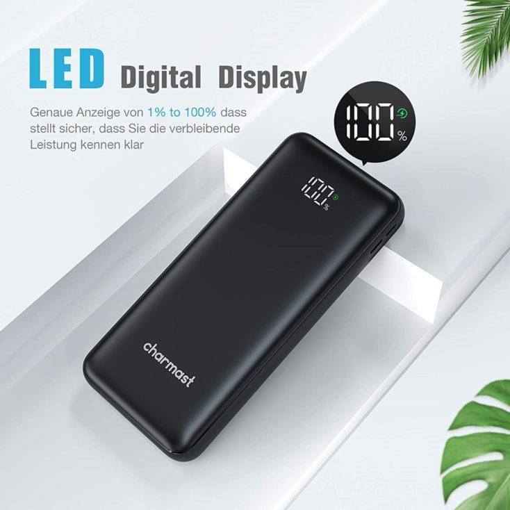 Charmast 23800 mAh Powerbank LED Display