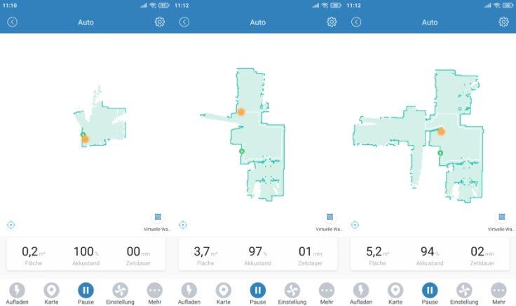 Proscenic M6 Pro Saugroboter App Beginn Mapping