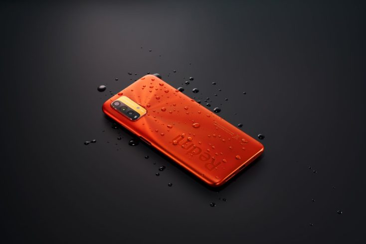 Redmi 9T Orange Rueckseite