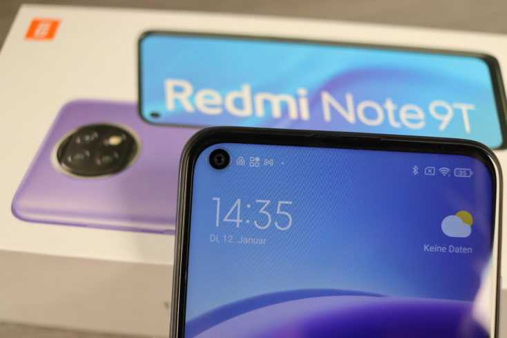 Redmi Note 9T Punch-Hole Display