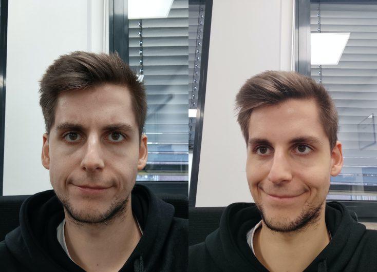 Redmi Note 9T vs Note 9 Pro Frontkamera Vergleich