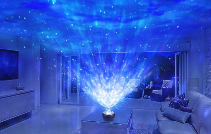 Riarmo Sternenhimmel Projektor im Wohnzimmer