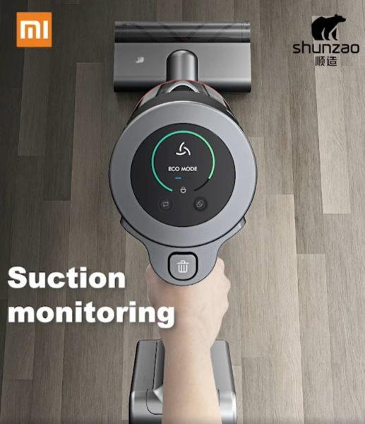 Shunzao Z12 Pro Display-Akkusauger Display