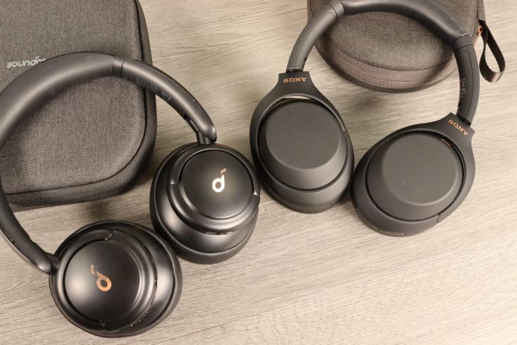 Sony WH 1000XM4 und Soundcore Life Q30
