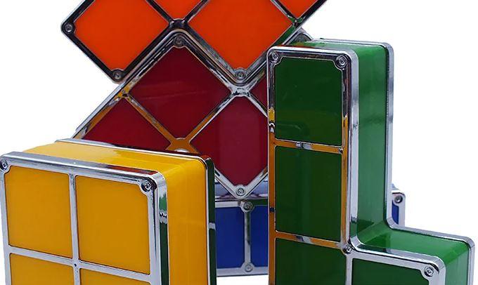 Tetris Dekolicht Closeup