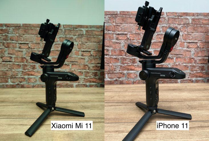 Xiaomi Mi 11 testfoto vs iPhone 11 Weissabgleich