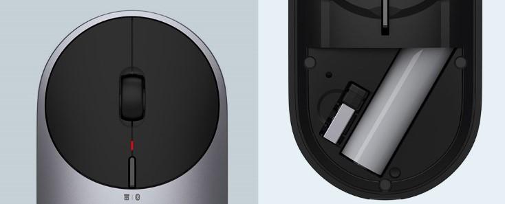 Xiaomi Portable Mouse 2 Tasten und Batteriefach