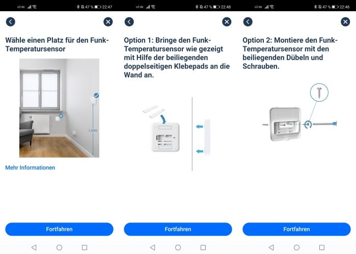tado Funk-Temperatursensor App Einbindung Anleitung Optionen