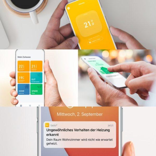 tado smarte Thermostate App-Steuerung von unterwegs