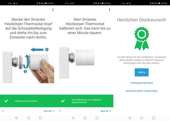 tado smartes Thermostat App Anbringung Heizung