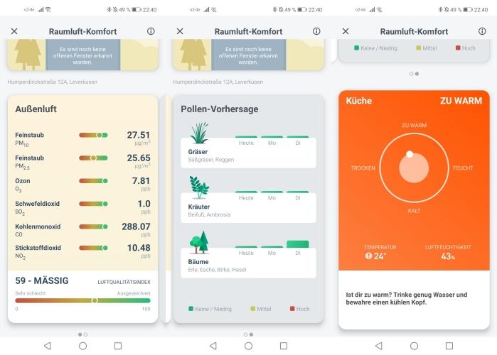 tado smartes Thermostat App Daten Pollen