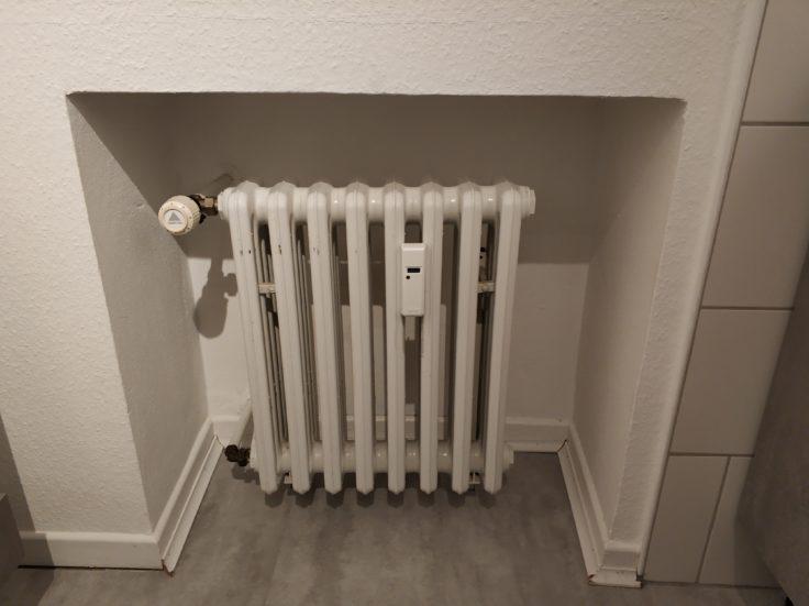 tado smartes Thermostat Heizung vor Anbringung