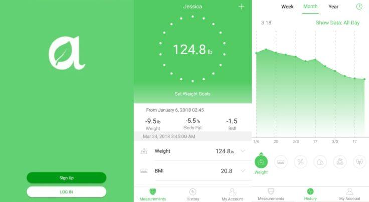 Arboleaf smarte Waage App