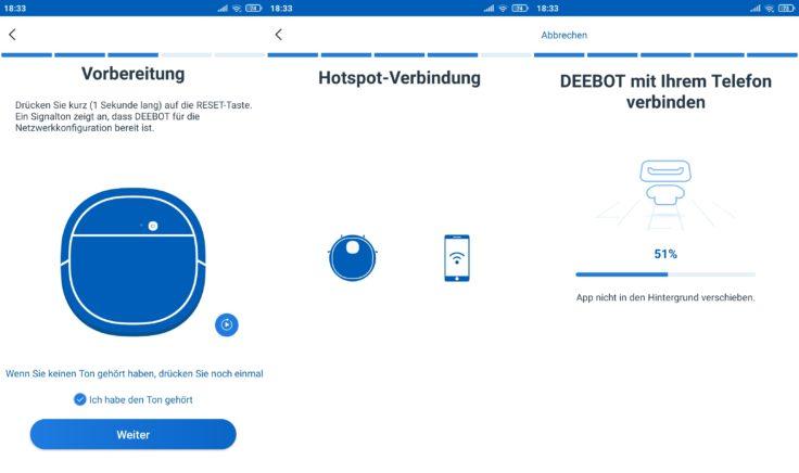Ecovacs Deebot N8 Pro+ Saugroboter App Einbindung WLAN