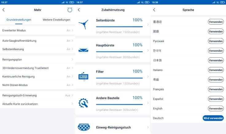 Ecovacs Deebot N8 Pro Saugroboter App Einstellungen