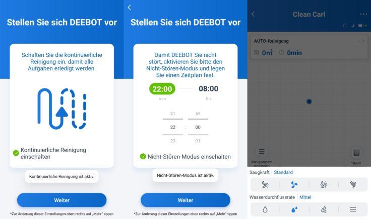 Ecovacs Deebot N8 Pro+ Saugroboter App Einstellungen vornehmen