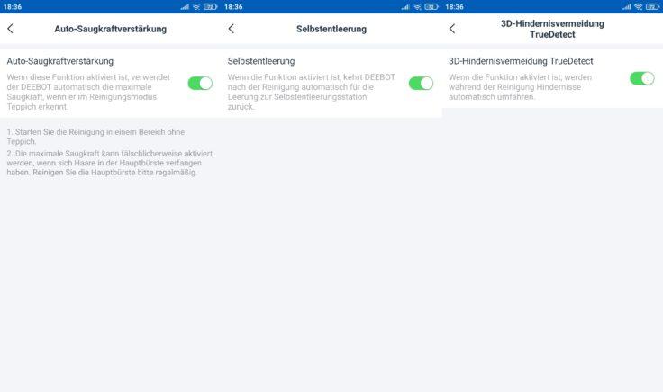 Ecovacs Deebot N8 Pro Saugroboter App Einstellungsmoeglichkeiten Funktionen