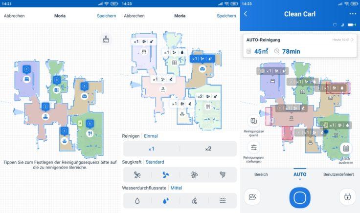 Ecovacs Deebot N8 Pro+ Saugroboter App selektive Raumeinteilung