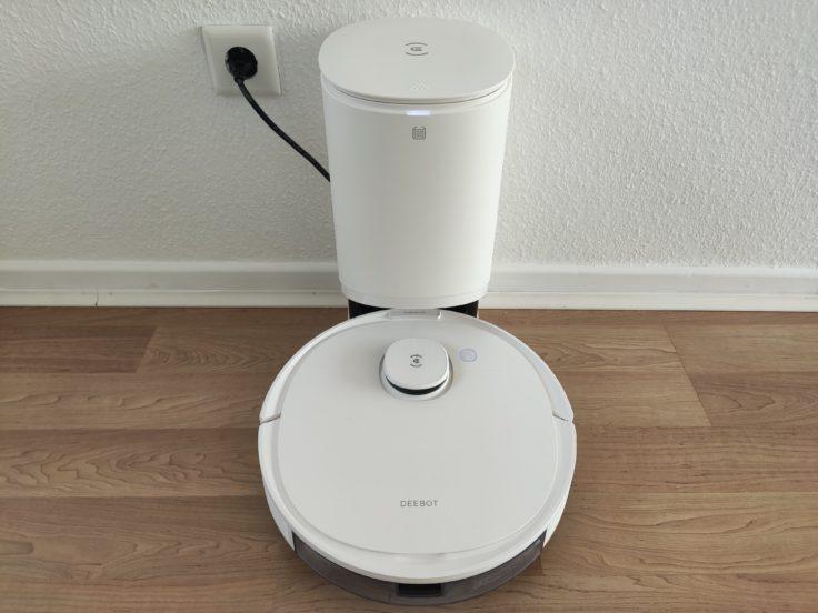 Ecovacs Deebot N8 Pro+ Saugroboter Absaugstation