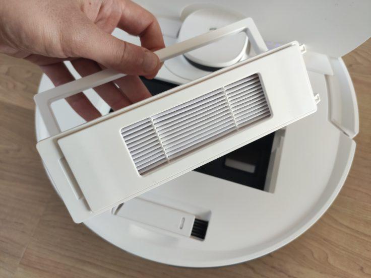 Ecovacs Deebot N8 Pro+ Saugroboter Staubkammer entnehmen