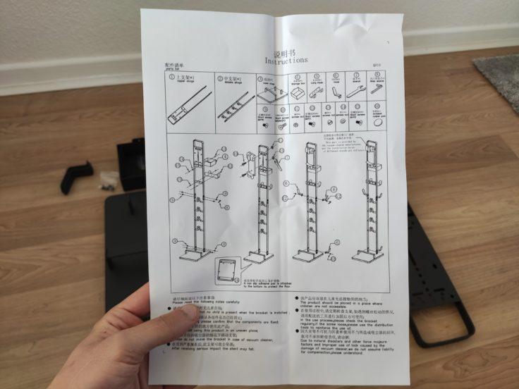 Geekbes Standhalterung für Akkusauger Aufbauanleitung