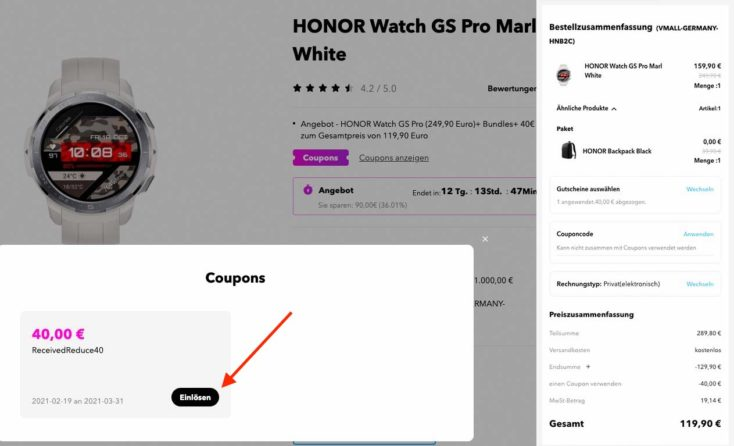 Honor Watch GS Pro Deal Honor