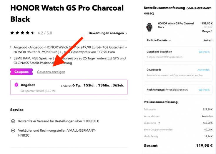 Honor Watch GS Pro Gutschein