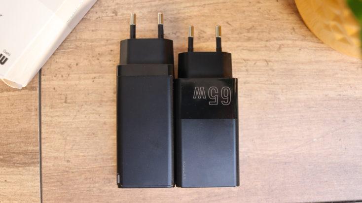 KUULAA 65W USB C Ladegeraet Groesse Vergleich Baseus