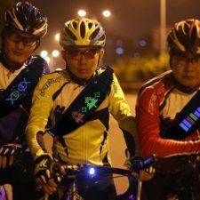 LED Bauchtasche beim Radfahren