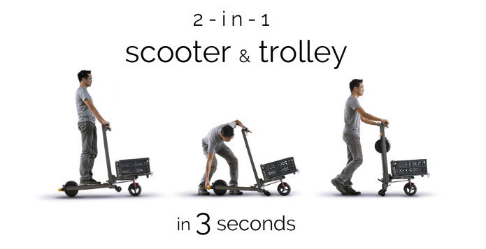 Mimo C1 Cargo E Scooter Trolley
