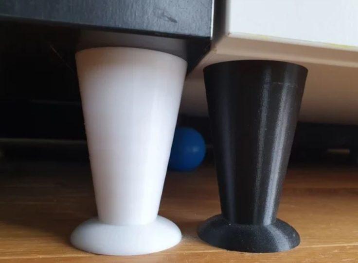 Moebelstuecke erhoehen Saugroboter 3D Drucker Vorrichtung