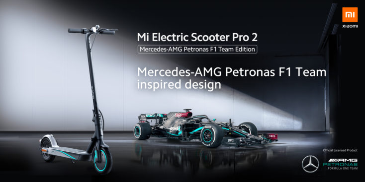 Mercedes-AMG Petronas F1 Team Edition des Mi Electric Scooter Pro 2