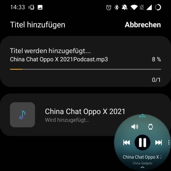 Samsung Galaxy Watch 3 Podcast uebertragen