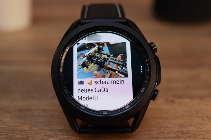 Samsung Galaxy Watch 3 WhatsApp mit Foto