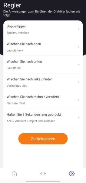 Tronsmart App Bedienung