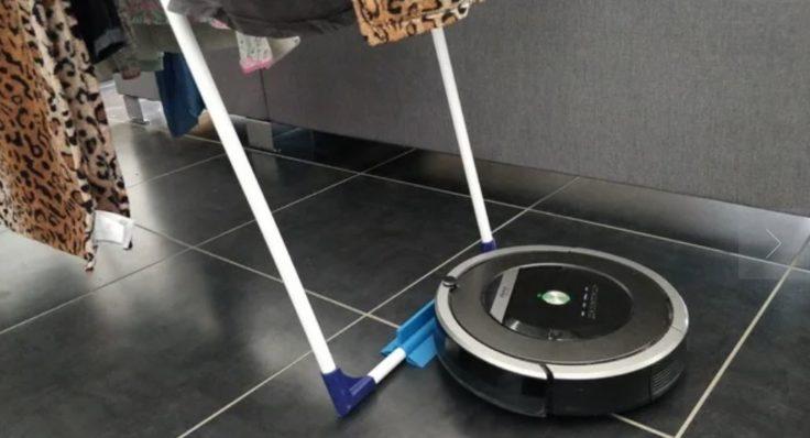 Waeschestaender Beine Saugroboter 3D Drucker Vorrichtung Stoppen