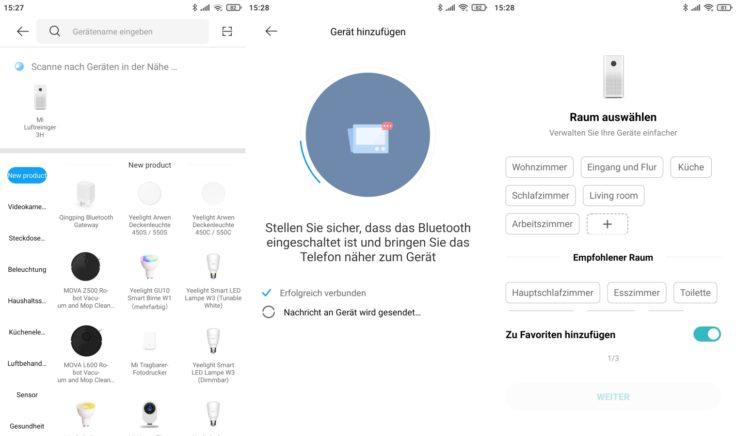Xiaomi Mi Air Purifier 3C Luftreiniger App Einbindung WLAN