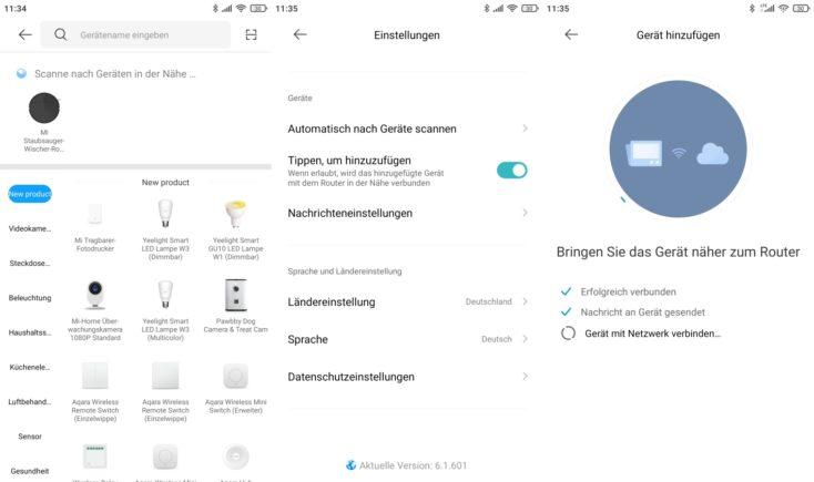 Xiaomi Mi Robot Vacuum-Mop 2 Pro+ Saugroboter App-Einbindung WLAN