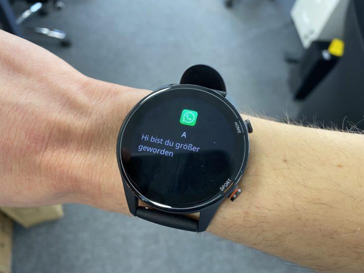 Xiaomi Mi Watch Benachrichtigungen