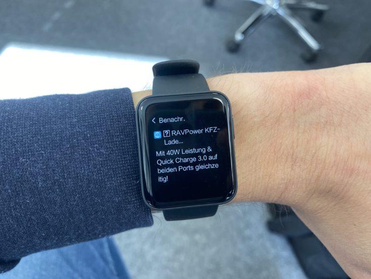 Xiaomi Mi Watch Lite Smartwatch Benachrichtigungen