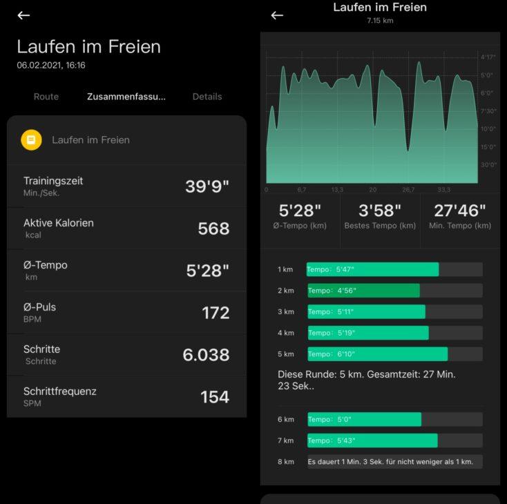 Xiaomi Mi Watch Lite Smartwatch Laufen