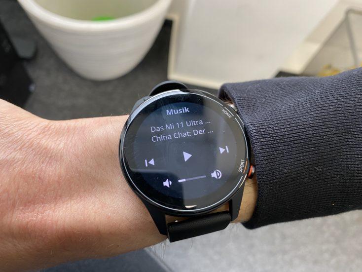 Xiaomi Mi Watch Musiksteuerung