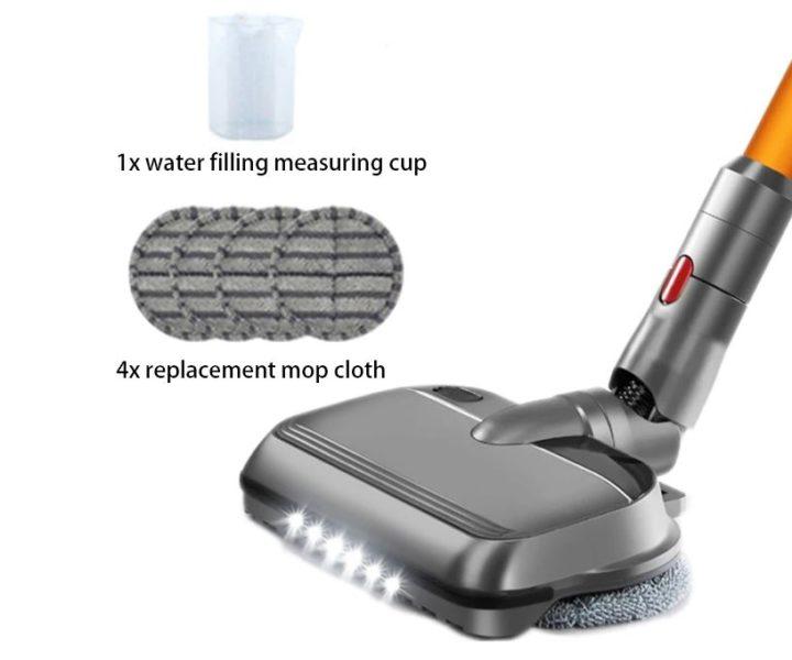 elektrischer Wischaufsatz mit LED Leuchten fuer Dyson Akkusauger