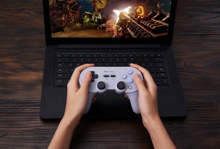 8Bitdo Pro 2 Controller am Laptop
