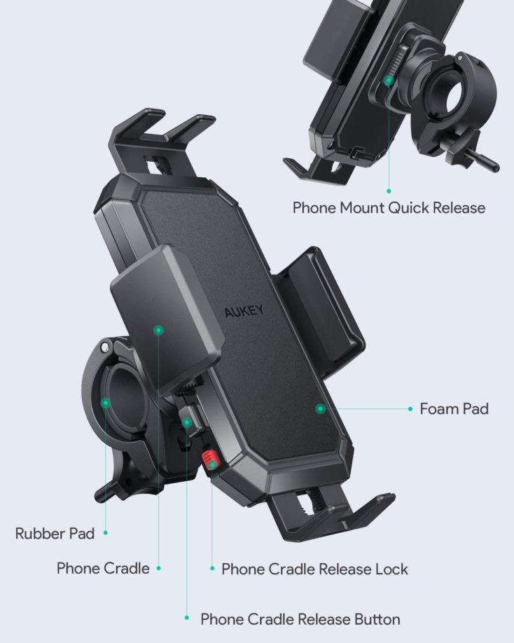 AUkey Fahrrad Smartphonehalterung Details