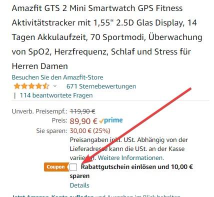Amazfit GTS 2 Mini Angebot